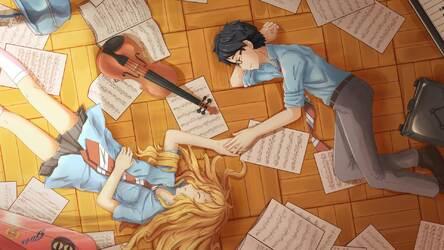 Download 58 Wallpaper Hd Your Lie In April HD Terbaru
