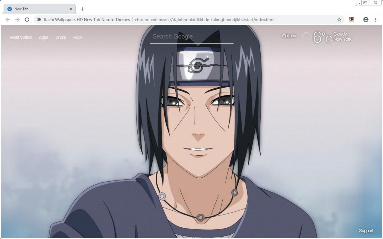 Itachi Wallpapers HD New Tab Naruto Themes