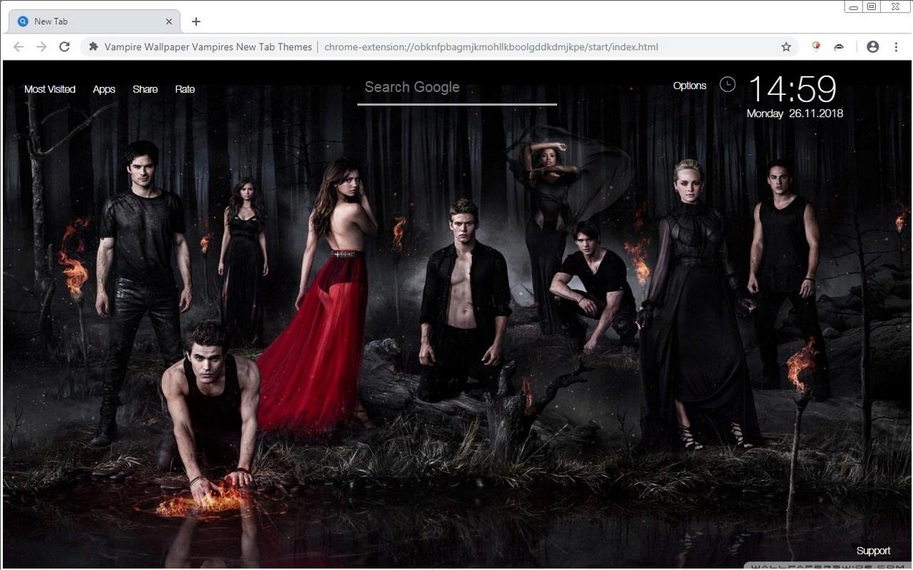 Vampire Wallpaper Vampires New Tab Themes