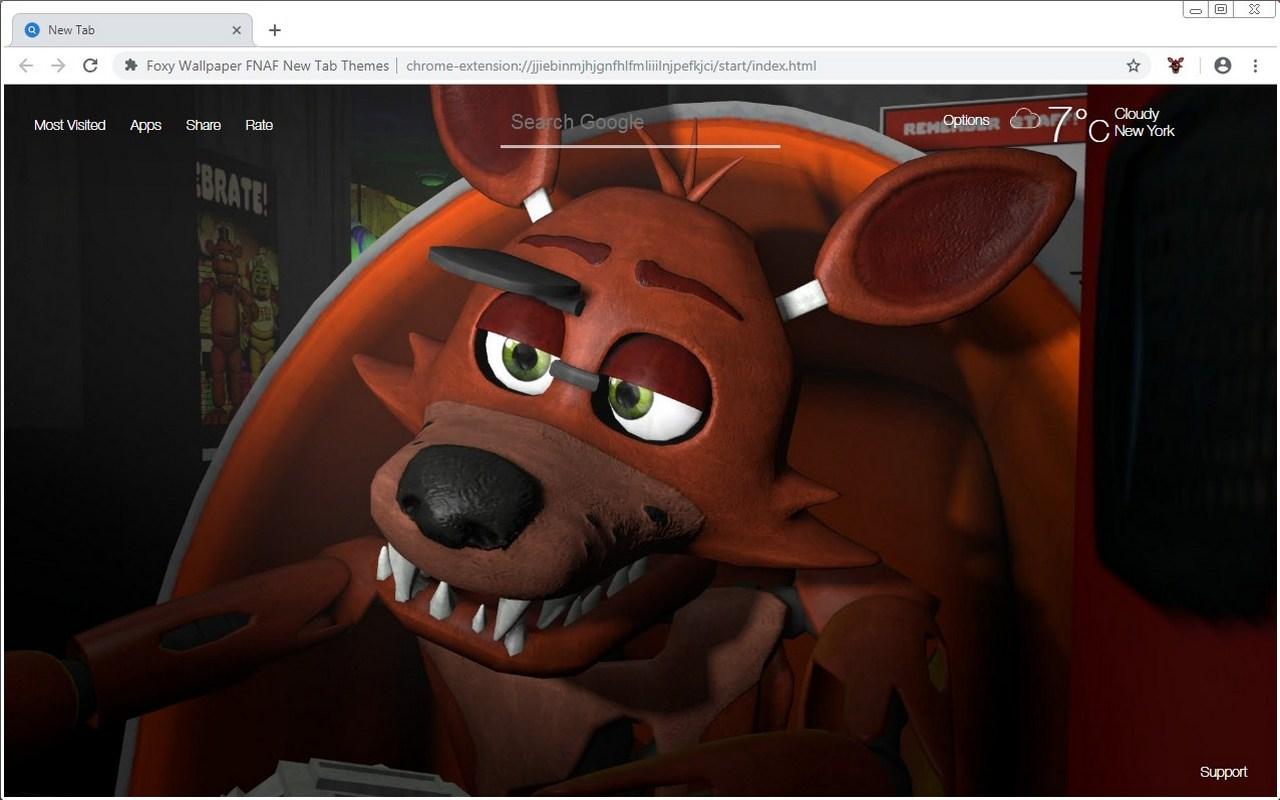 Foxy Wallpaper FNAF New Tab Themes