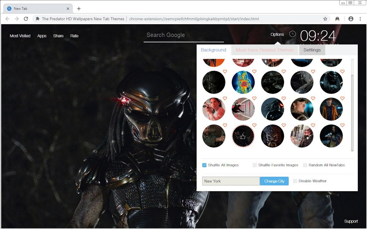 The Predator HD Wallpapers New Tab Themes