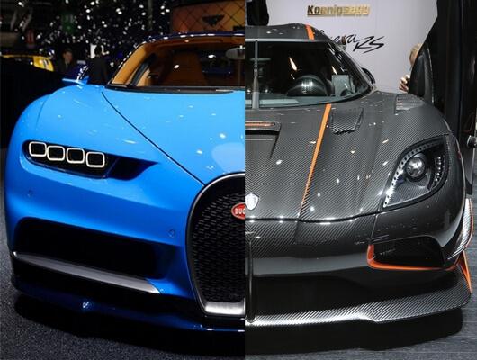 koenigsegg agera rs vs bugatti chiron: battle of blazing speed