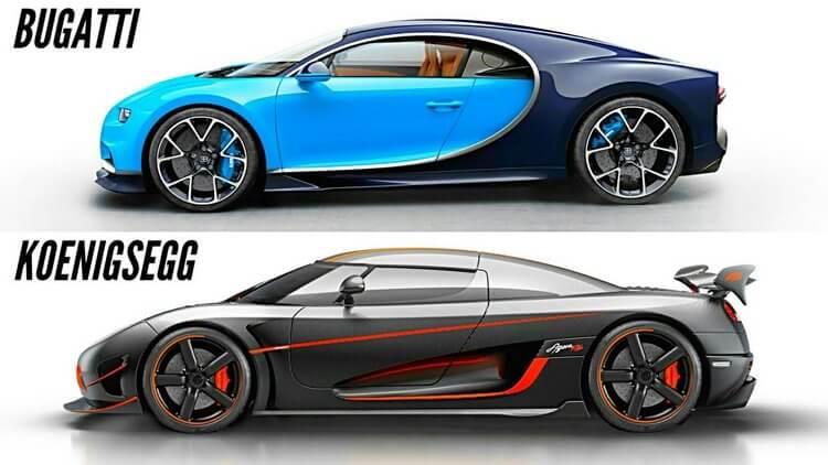 koenigsegg agera rs vs bugatti chiron 3