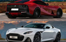 ferrari 812 superfast vs aston martin dbs superleggera 0