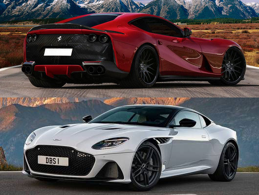 Cars Battle: Ferrari 812 Superfast vs Aston Martin DBS