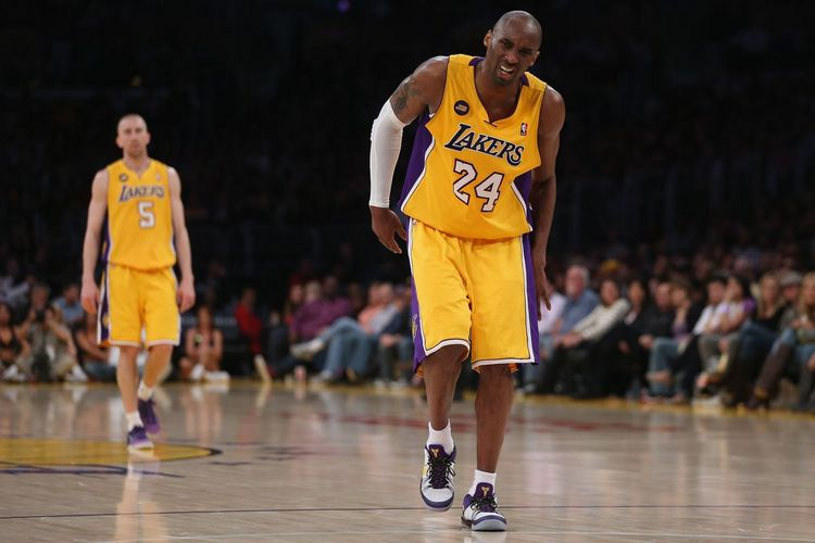 Kobe Bryant's tendon injury in 2013 (Source: Internet)